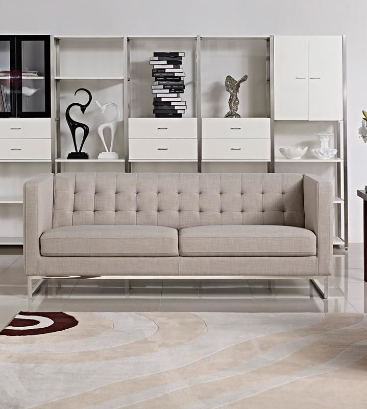 Vig Furniture VGMB1400-GRY-SOFA Divani Casa Dominic Modern Grey Fabric Sofa  sale at Contemporary Furniture Warehouse. Today only.