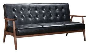 Sofas - Zuo Modern ZUO-100531 Rocky Sofa Black | 842896106684 | Only $837.80. Buy today at http://www.contemporaryfurniturewarehouse.com