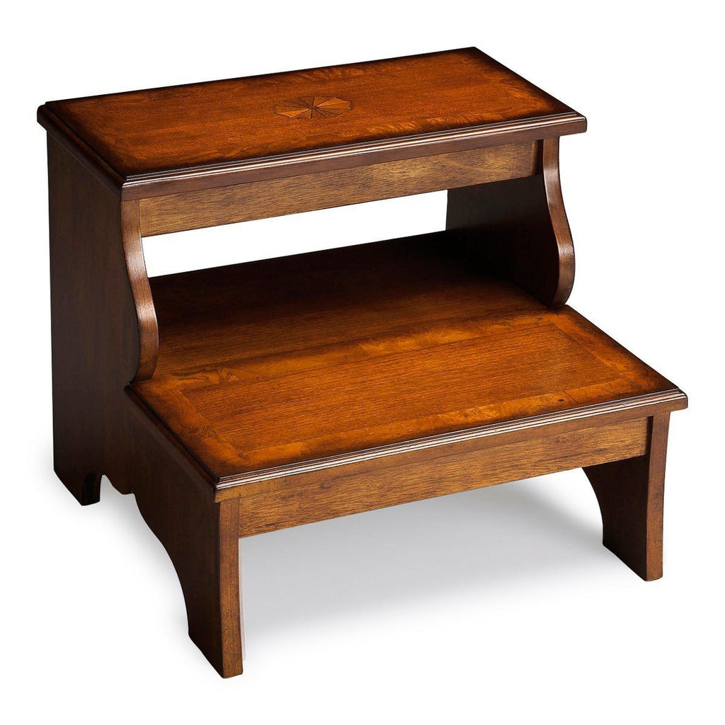 Stools - Butler Furniture BUT-1922101 Melrose Traditional Step Stool Medium Brown | 797379009054 | Only $259.00. Buy today at http://www.contemporaryfurniturewarehouse.com