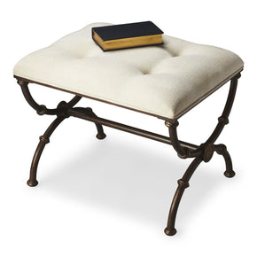 Stools - Butler Furniture BUT-2900025 Edita Traditional Rectangular Stool Gray | 797379011187 | Only $729.00. Buy today at http://www.contemporaryfurniturewarehouse.com