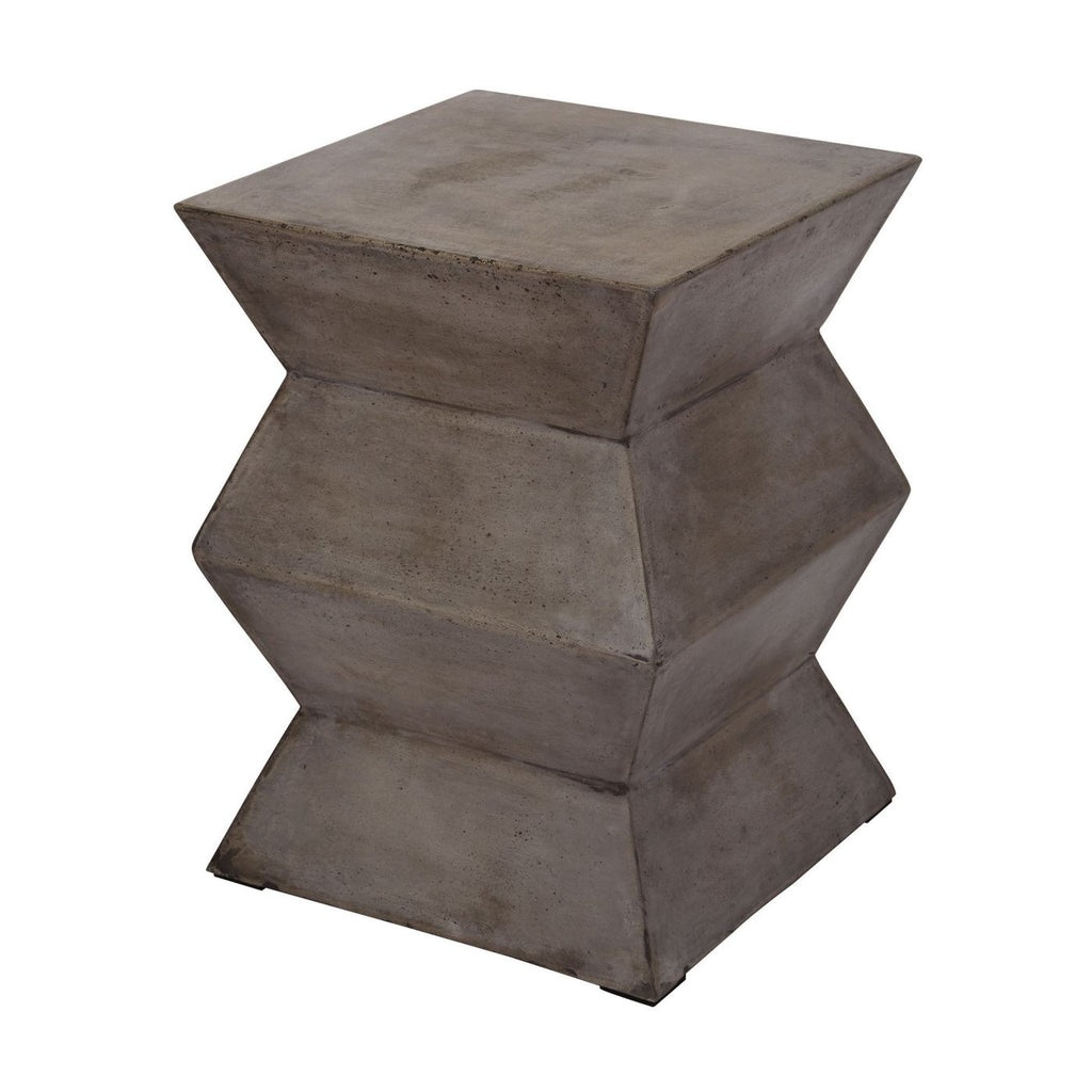 Cubo Folded Cement Stool Concrete