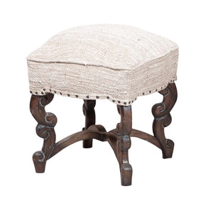 Scrolled Stool Gray