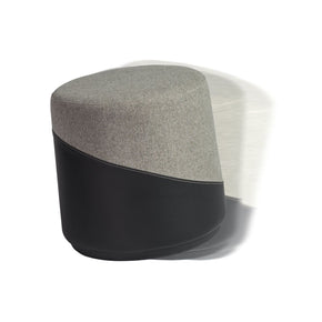Kestrel Balance Stool In Gray Fabric And Black Leatherette
