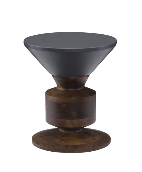 Stools - Moes Home Collection BZ-1016-25 Hippo Stool Grey Top Acacia Wood | 849043015912 | Only $595.00. Buy today at http://www.contemporaryfurniturewarehouse.com