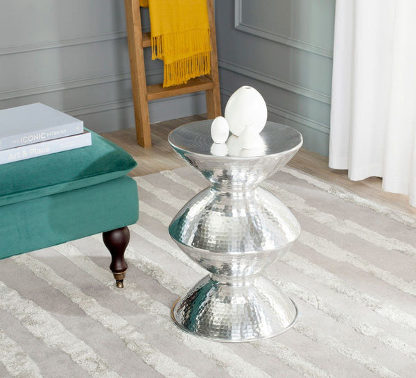 Guildsman Metal Table Stool Silver