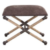 Evert Taupe Brown Accent Stool