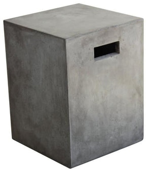 Modrest Yem Concrete Dining Stool Dark Grey