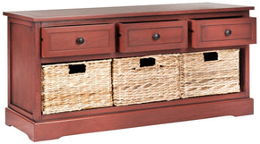 Damien 3 Drawer Storage Bench Red / Organization