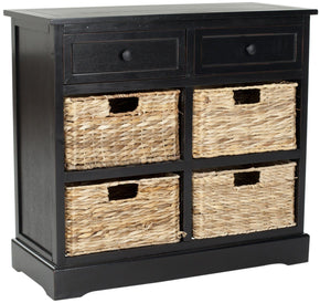 Herman Storage Unit Distressed Black / Organization