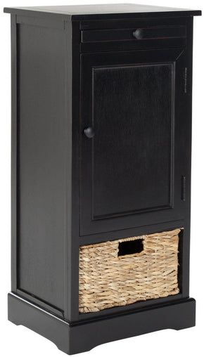 Raven Tall Storage Unit Distressed Black / Organization