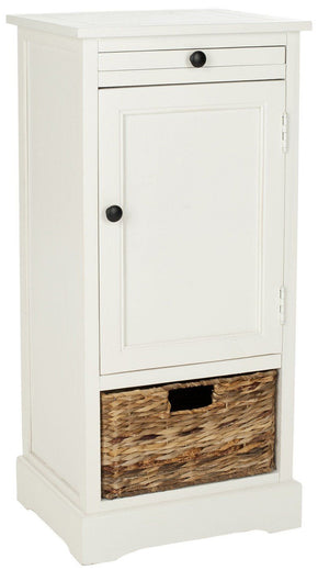 Raven Tall Storage Unit Distressed Cream / Organization