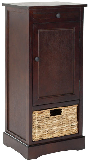 Raven Tall Storage Unit Dark Cherry / Organization