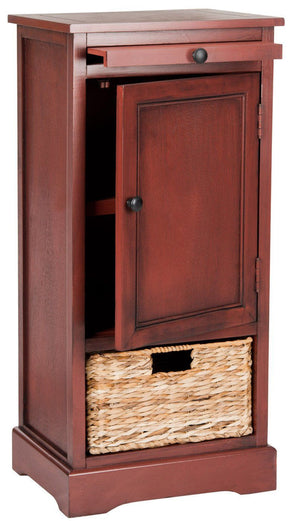 Raven Tall Storage Unit Red / Organization
