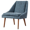 Enzo PU Leather Lounge Chair Kalahari Blue
