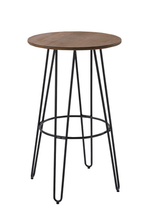 Vig Furniture VGCBT-14080-102 Modrest Gelson Modern Round Bamboo Top Bar Table