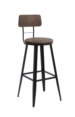 Vig Furniture VGCBT4625-A Modrest Jennings Modern Brown Wood Bar Stool