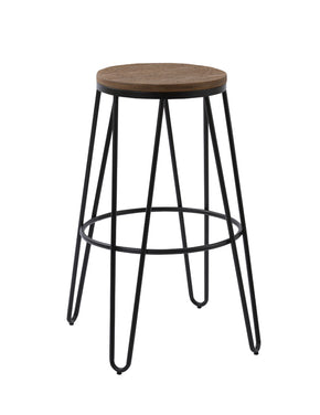 Vig Furniture VGCBT-5068-76-4 Modrest Gelson Modern Wood Top Bar Stool (Set of 2)