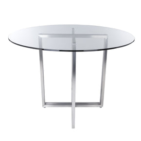Legend Dining Table Base In Brushed Stainless Steel