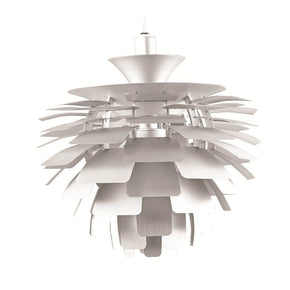 Artichoke Leaf Lamp Silver Table