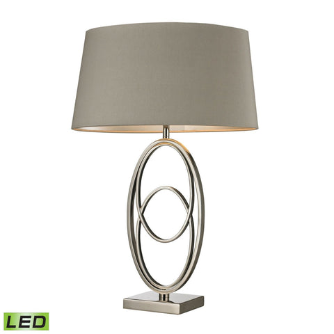 Hanoverville Led Table Lamp In Polished Nickel