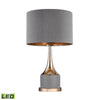 Small Gold Cone Neck Led Lamp Grey,gold Table