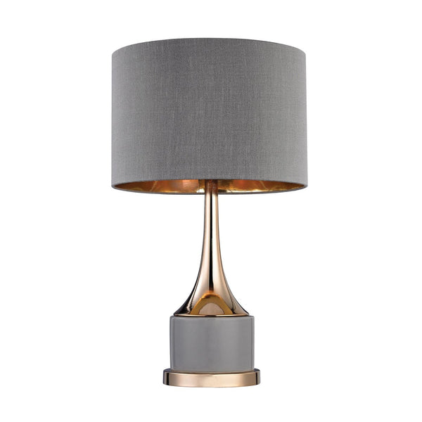 Small Gold Cone Neck Lamp Grey,gold Table
