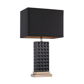 Black Stud Ceramic Lamp Black,gold Table