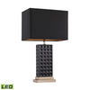 Black Stud Ceramic LED Lamp Black,Gold