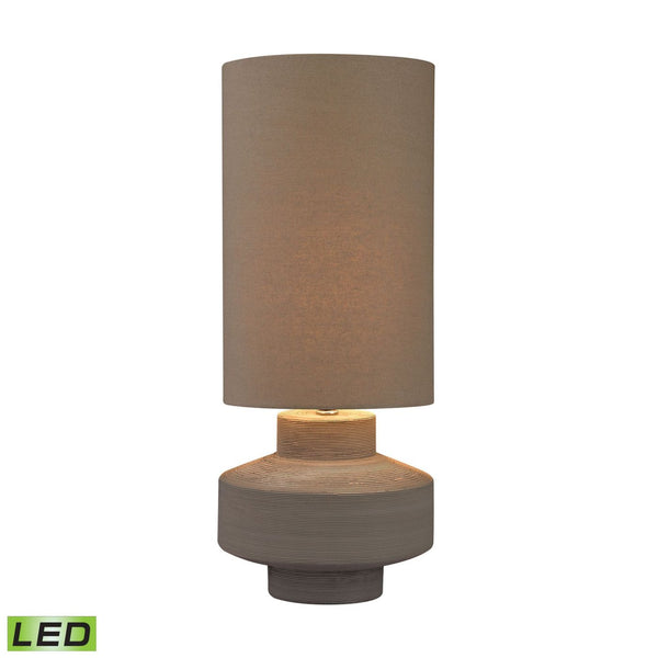 Geometric Brutalist Led Lamp Grey Clay Table