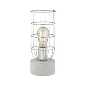 Wardenclyffe Table Lamp Polished Concrete,polished Nickel