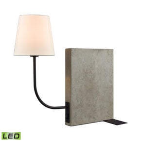 Sector Shelf Sitting Led Table Lamp Concrete,oil Rubbed Bronze