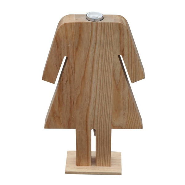 Person Table Lamp Female Natural