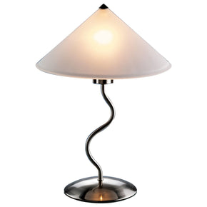 Doe Li Lamp Brushed Satin Finish Table