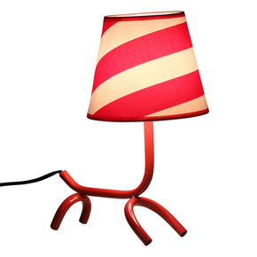 Woof Table Lamp Red White