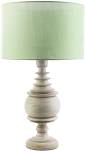 Acacia Outdoor Table Lamp Antique White Green