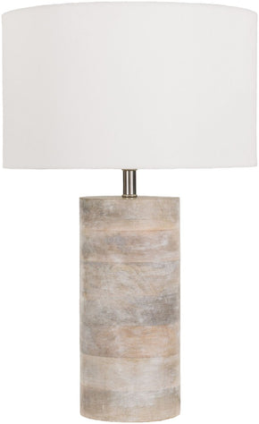 Arbor Contemporary Table Lamp Natural Finish White
