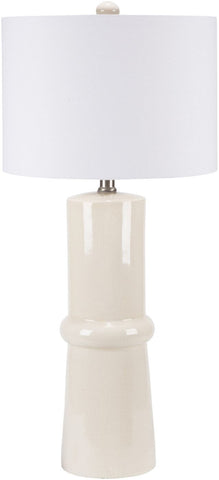 Ava Modern Table Lamp Cream Crackle White