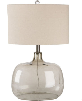 Bentley Coastal Table Lamp Lt. Bubble Clear Smoke Oatmeal