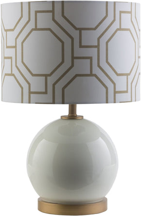 Bowen Pattern Table Lamp Solid White