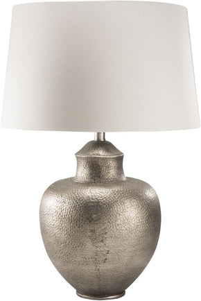 Cooper Global Table Lamp Antiqued Silvertone White