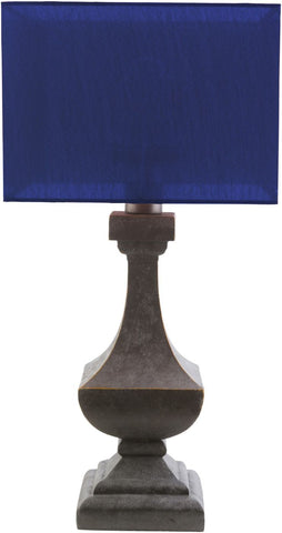Davis Outdoor Table Lamp Antique Pewter Blue