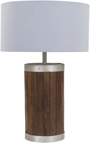 Factory Rustic Table Lamp Natural Finish Blue