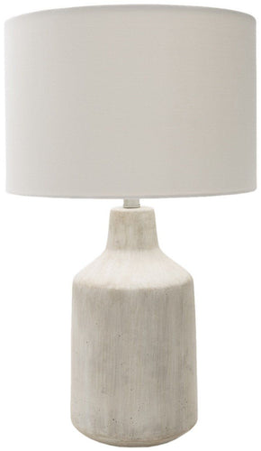 Foreman Rustic Table Lamp Painted White