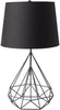 Fuller Industrial Table Lamp Painted Black