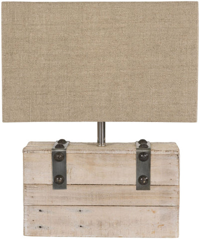 Hinge Rustic Table Lamp White Washed Tan