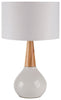 Kent Contemporary Table Lamp White White
