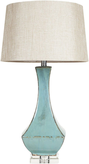 Lamp Modern Table Turquoise Reactive Glaze Neutral