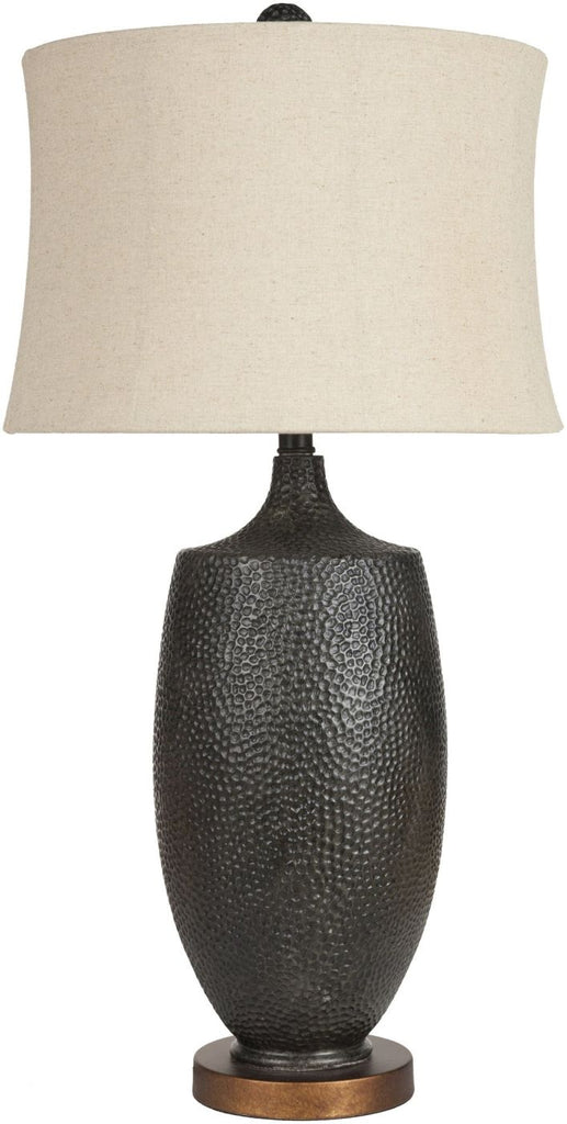 Lamp Global Table Aged Black Camel