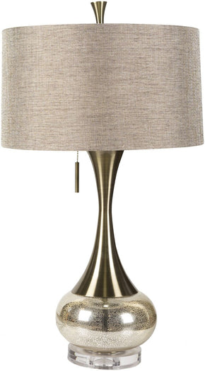 Lamp Glam Table Aged Brass/mercury Glass Silver/gold