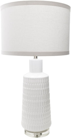 Table Lamps - Surya MCE100-TBL Mcrae Contemporary Table Lamp Glazed White | 888473561750 | Only $324.60. Buy today at http://www.contemporaryfurniturewarehouse.com